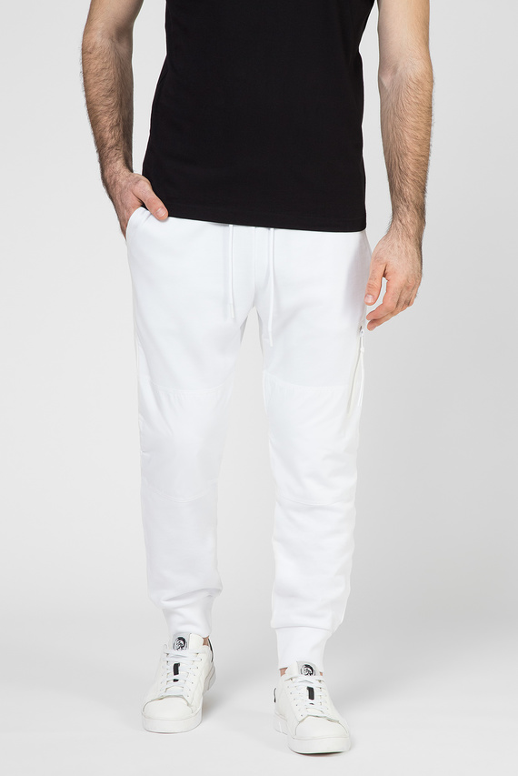 Мужские белые спортивные брюки P-ORTEX