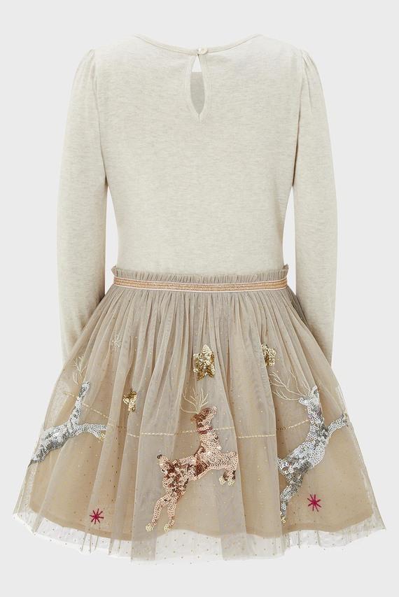 Детское бежевое платье Disco Sleigh