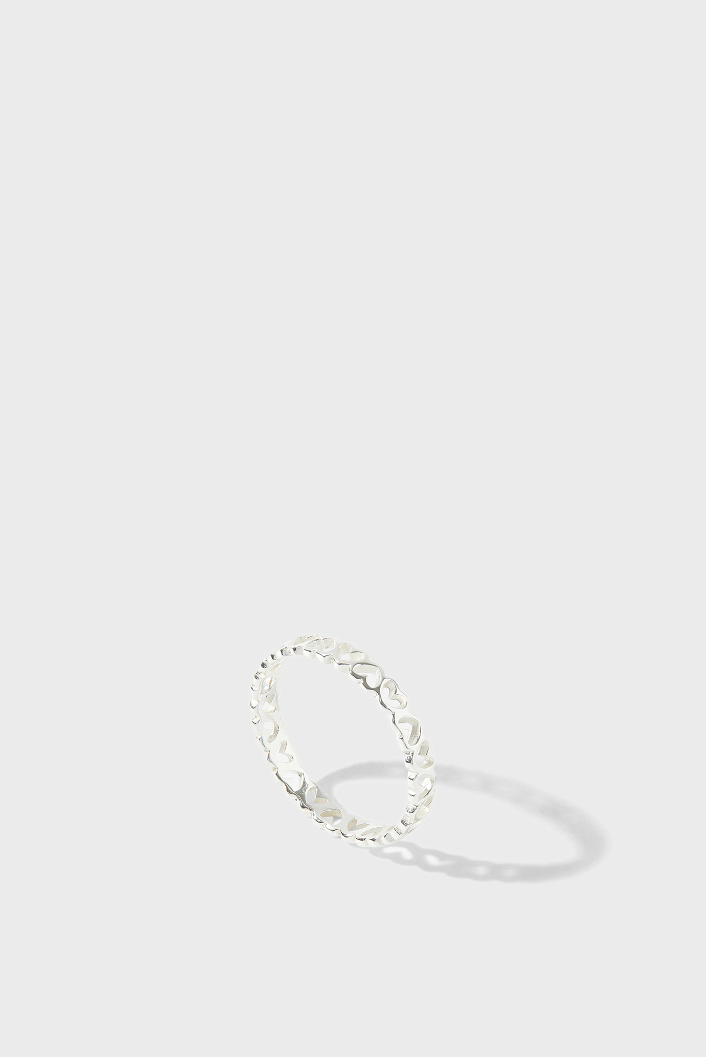 Жіноча срібна каблучка ST HEART BAND RING 1