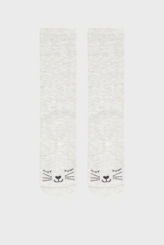 Женские серые носки Sasha Sparkle Cat An