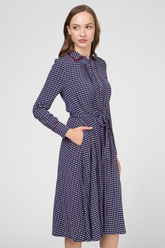 Женское темно-синее платье с принтом ANGIE