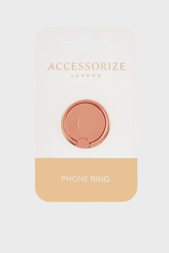 Золотистое кольцо для телефона Initial Phone Ring G