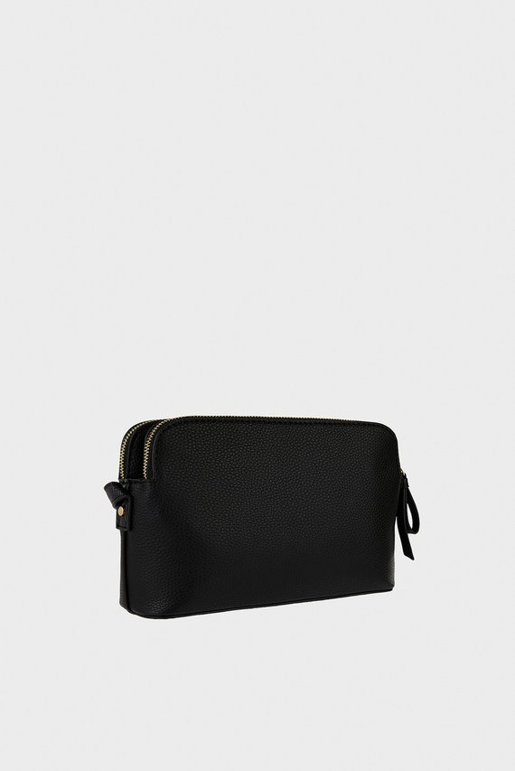 Женская черная сумка через плечо TAYLOR DOUBLE ZIP CR