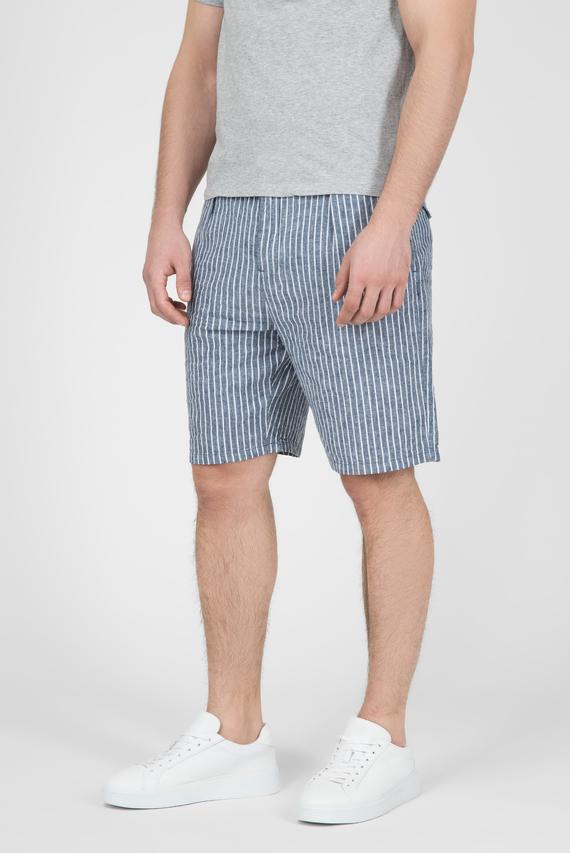 Мужские синие льняные шорты DEAN