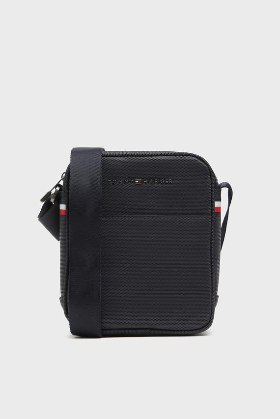 Мужская темно-синяя сумка через плечо ESSENTIAL PIQUE MINI