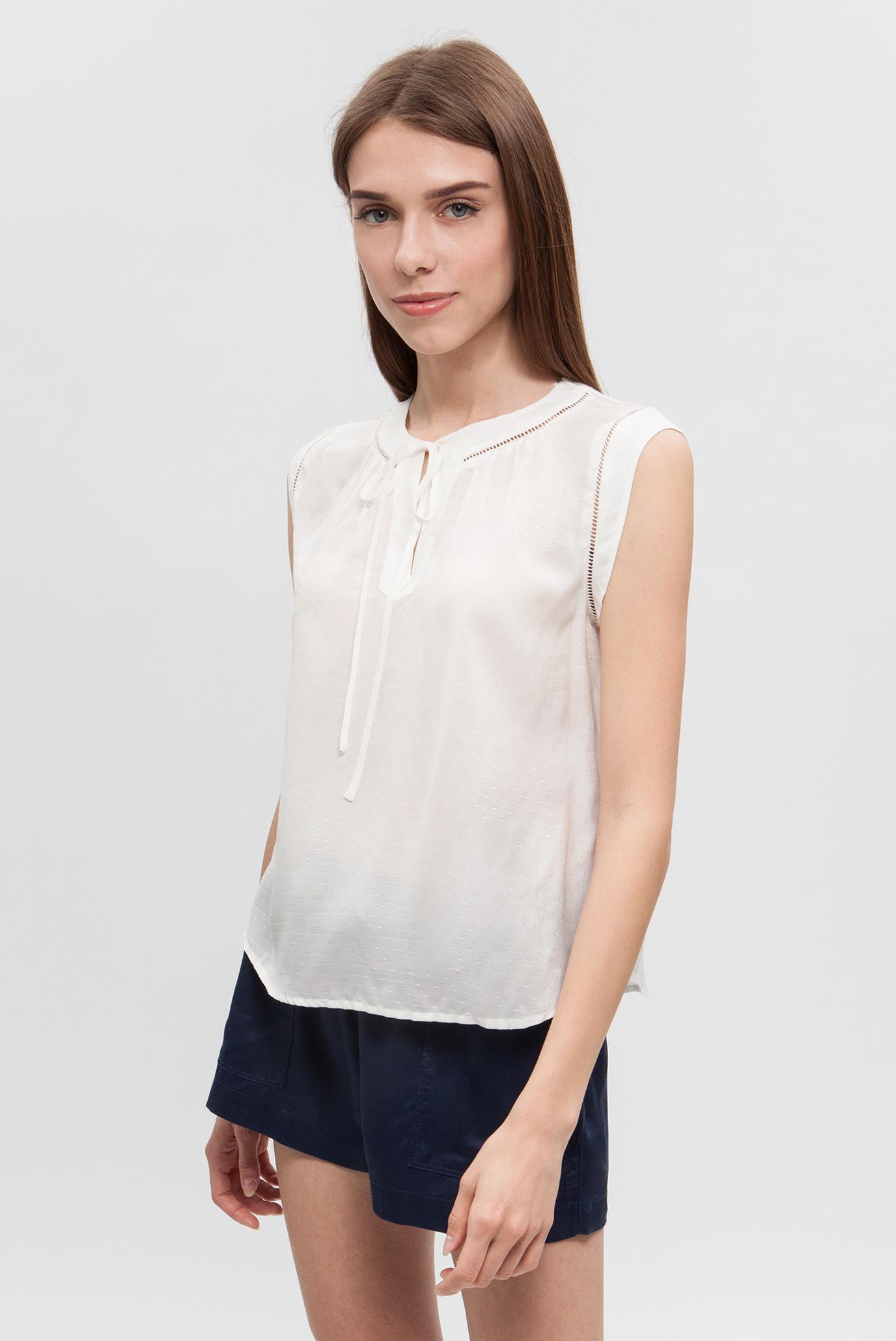 Купить Женская белая блуза Tommy Hilfiger Tommy Hilfiger DW0DW04203 – Киев, Украина. Цены в интернет магазине MD Fashion