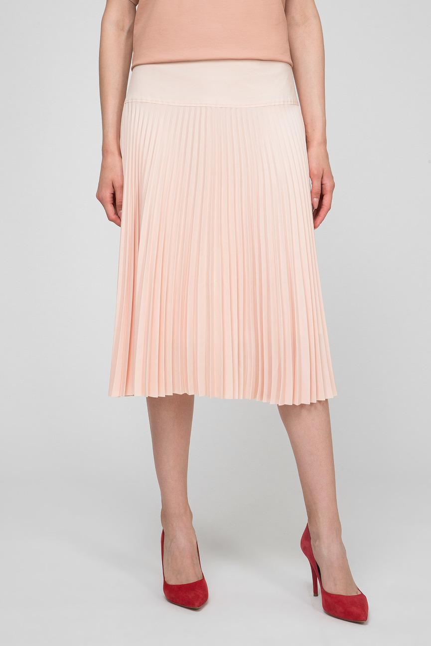 Женская персиковая юбка-плиссе