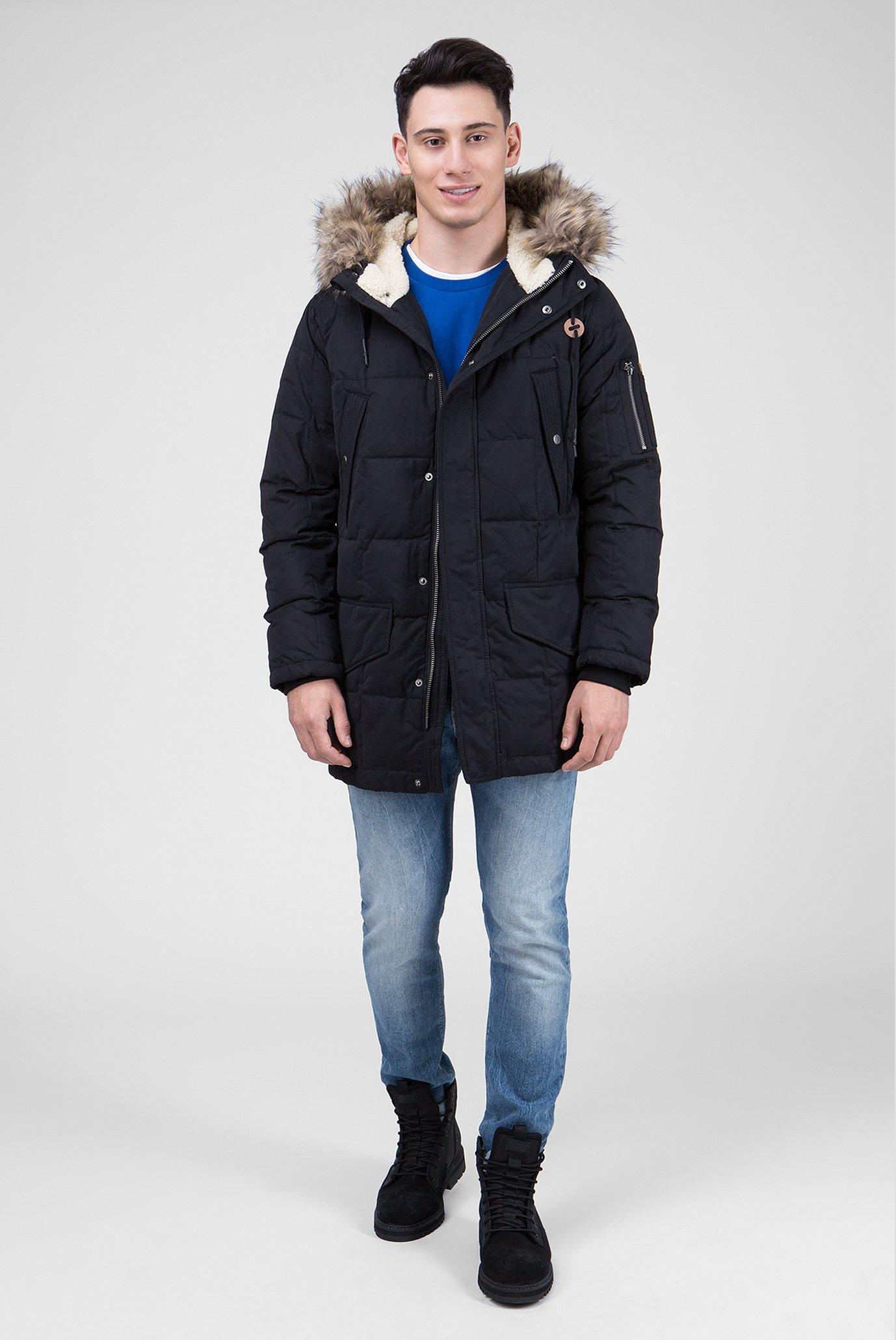 Купить Мужская черная пуховая парка WOODLANDS Pepe Jeans Pepe Jeans PM401932 – Киев, Украина. Цены в интернет магазине MD Fashion