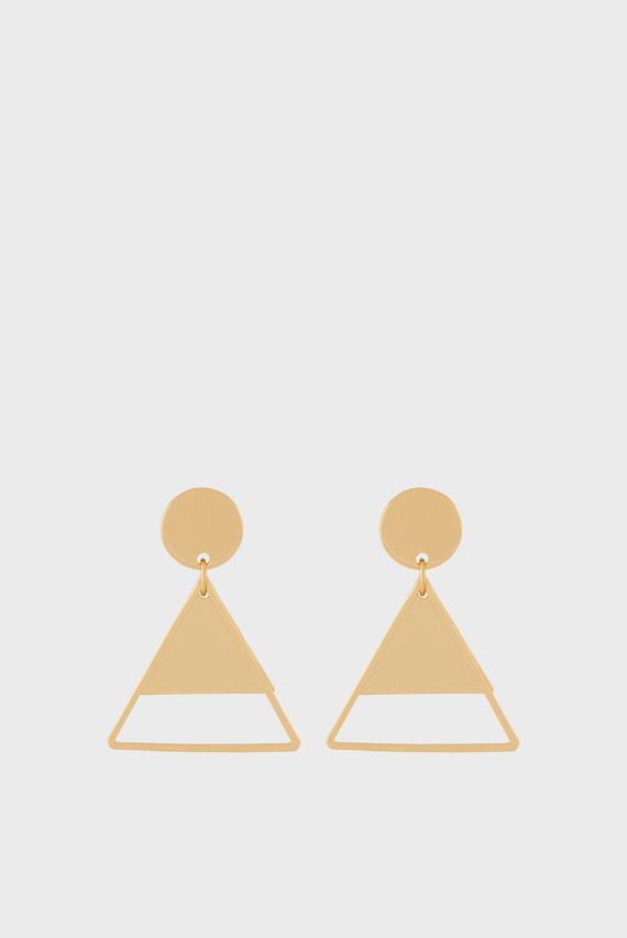 Женские золотистые серьги SHAPES SHORT DROP