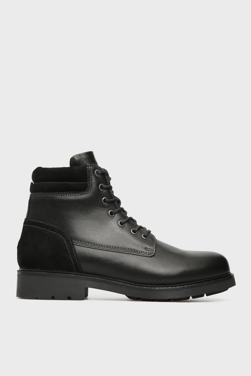 Мужские черные кожаные ботинки ACTIVE
