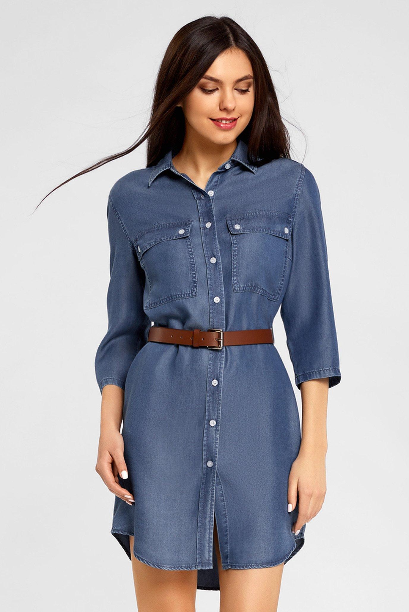 9c7c001bb76 Купить Женское джинсовое платье-рубашка Oodji Oodji 12909052 45490 7500W –  Киев