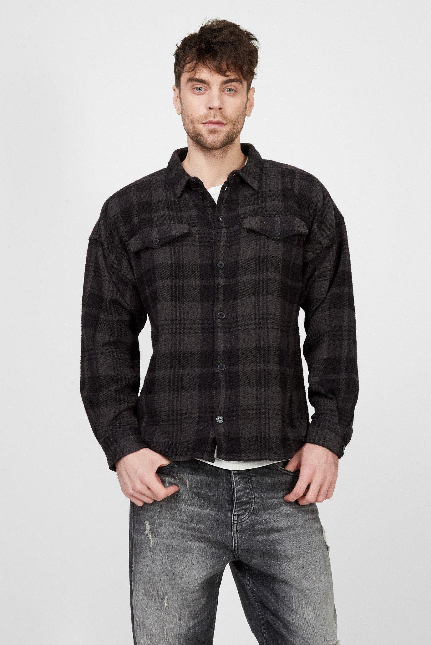 Мужская рубашка в клетку Jin Tigha