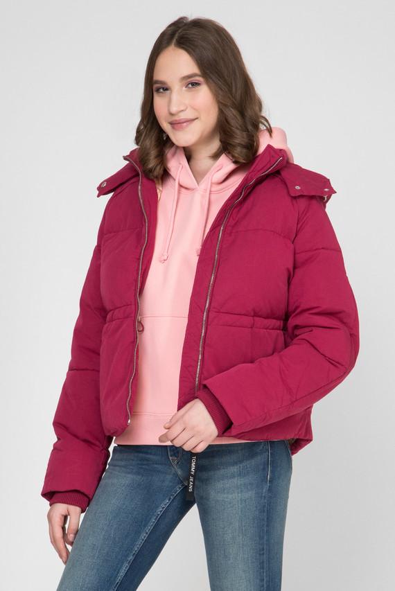 Женская малиновая куртка TJW TOMMY DETAIL PUFFA