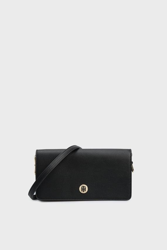 Женская черная сумка через плечо HONEY FLAP