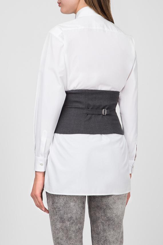 Женская белая блуза с корсетом