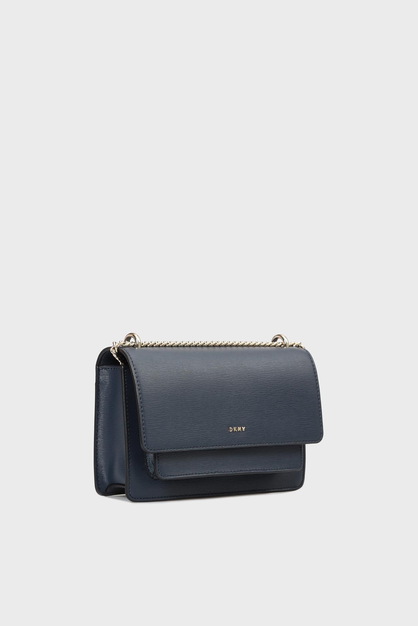 Купить Женская темно-синяя кожаная сумка через плечо BRYANT-SM DKNY DKNY R91E3A90 – Киев, Украина. Цены в интернет магазине MD Fashion