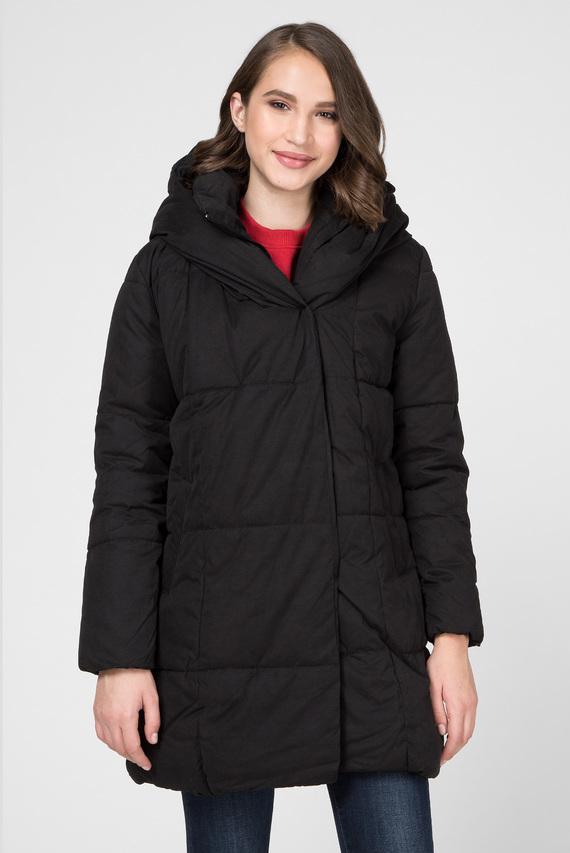 Женская черная удлиненная куртка THALY
