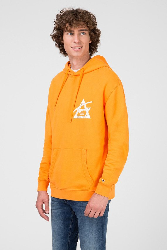 Мужское оранжевое худи TJM GRAPHIC WASHED
