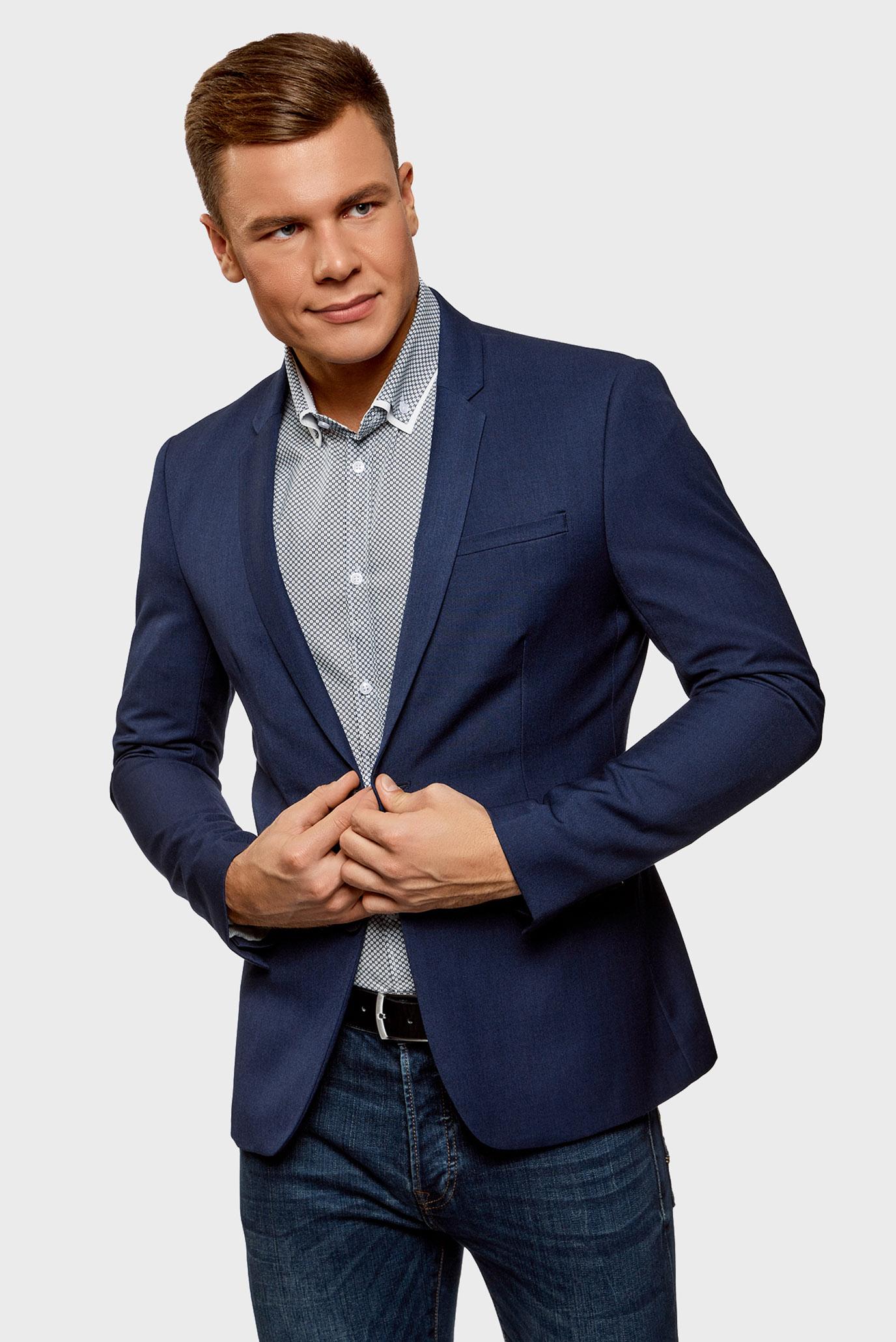 Купить Мужской темно-синий пиджак Oodji Oodji 2B420016M/46317N/7800N – Киев, Украина. Цены в интернет магазине MD Fashion