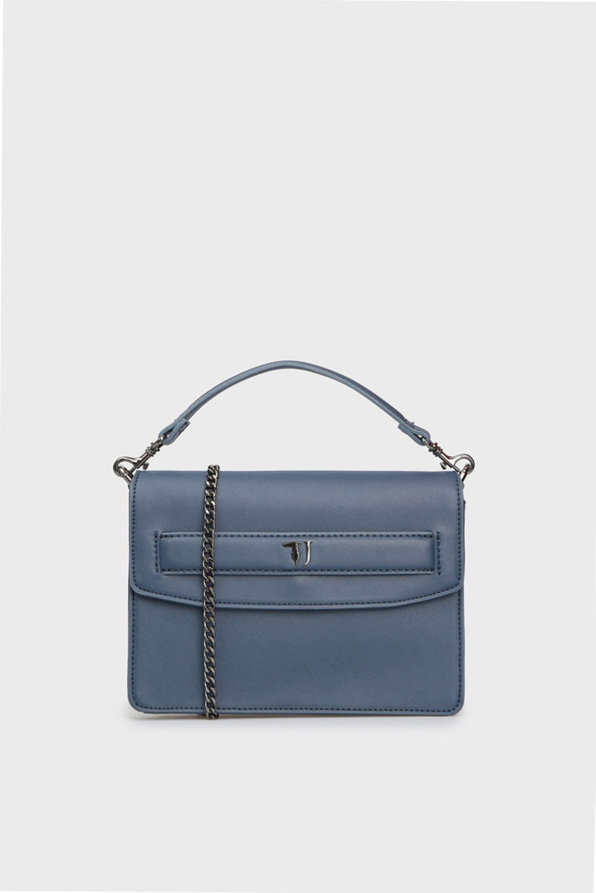 Женская синяя сумка через плечо