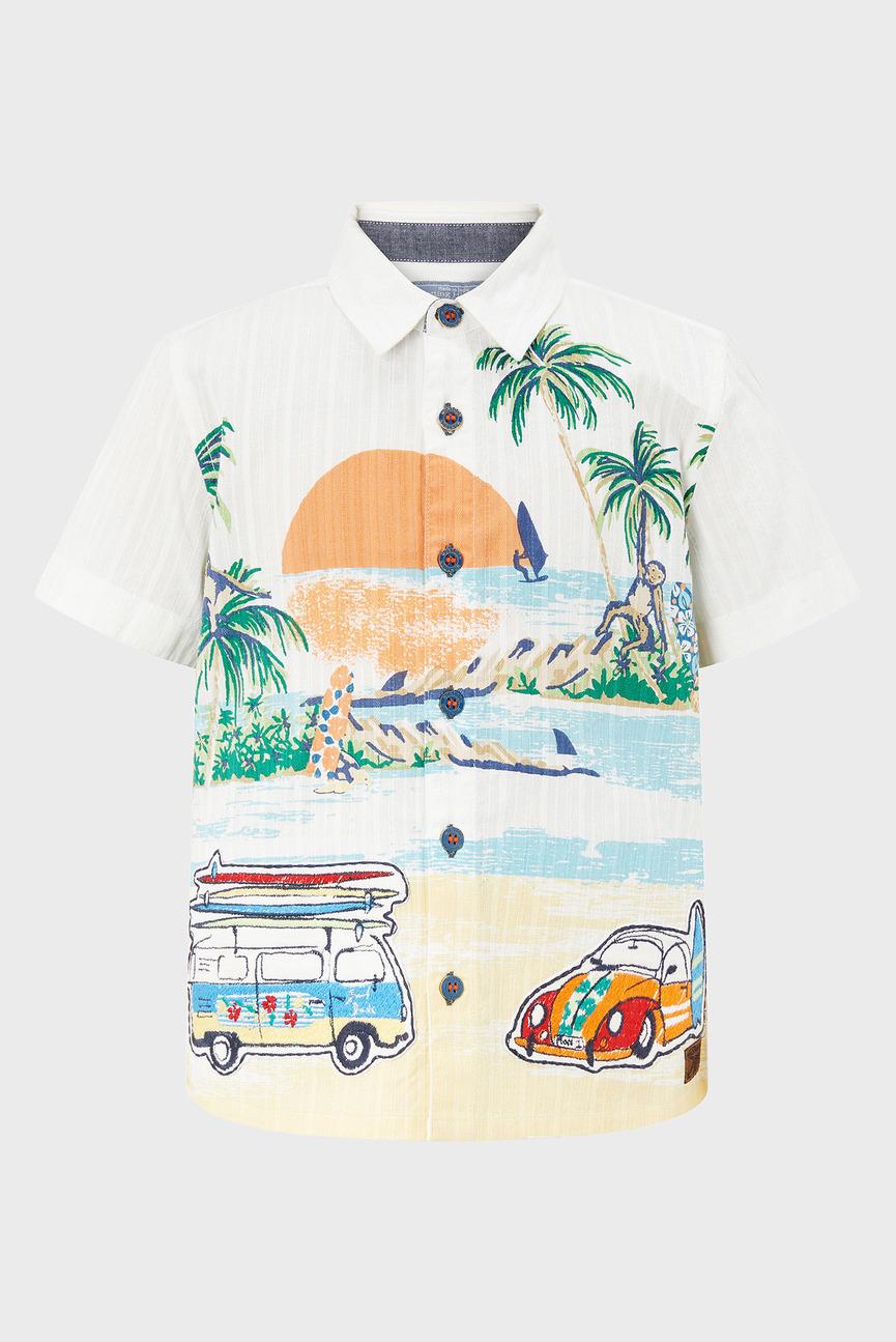 Детская белая рубашка Ben Applique Shirt