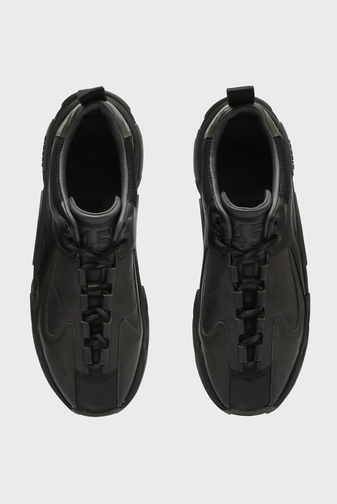 Купить Мужские черные кожаные кроссовки SKIPPER Diesel Diesel Y01826 PR013 – Киев, Украина. Цены в интернет магазине MD Fashion