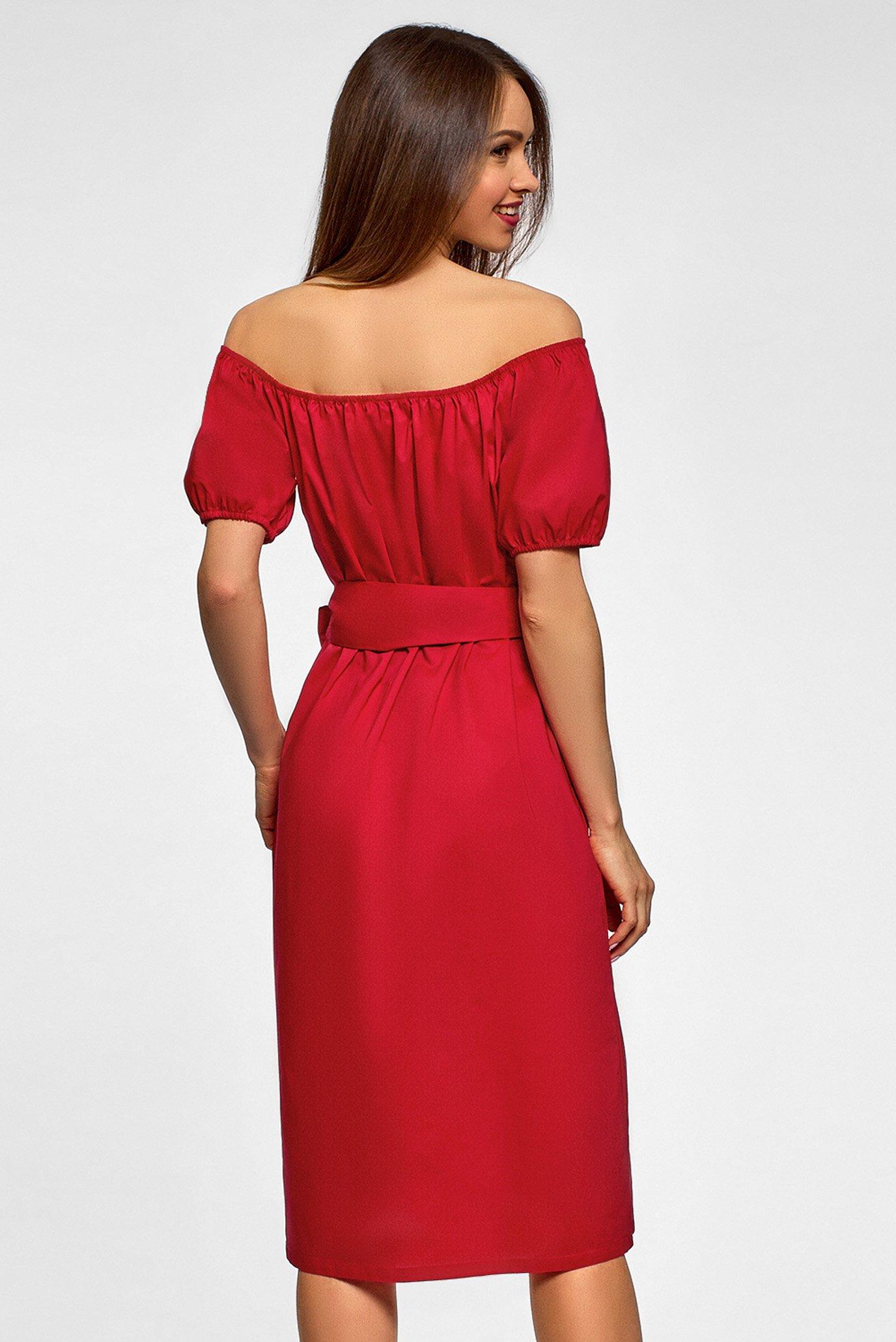 Женское красное платье Oodji