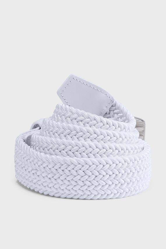 Мужской белый ремень Men's Braided 2.0 Belt