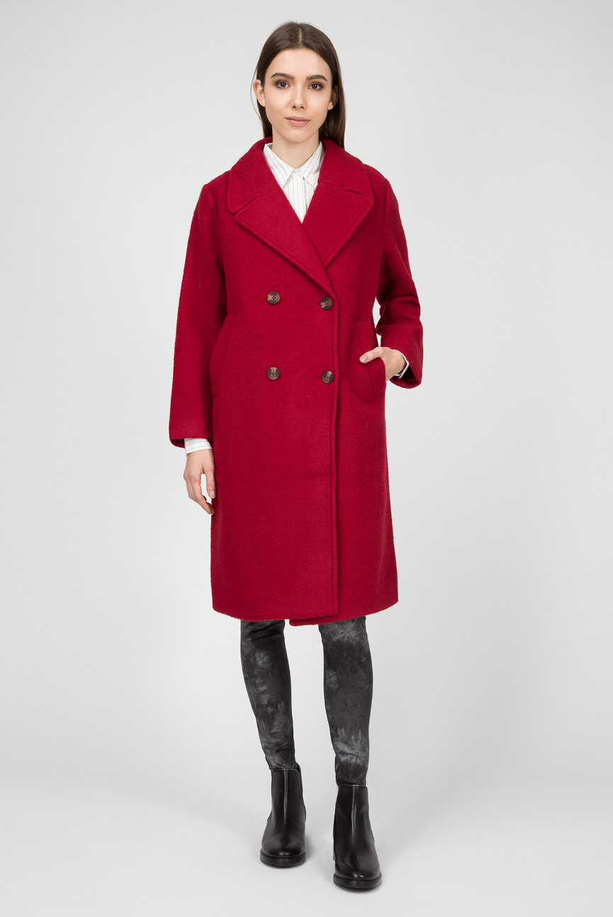 Женское красное пальто EDURNE