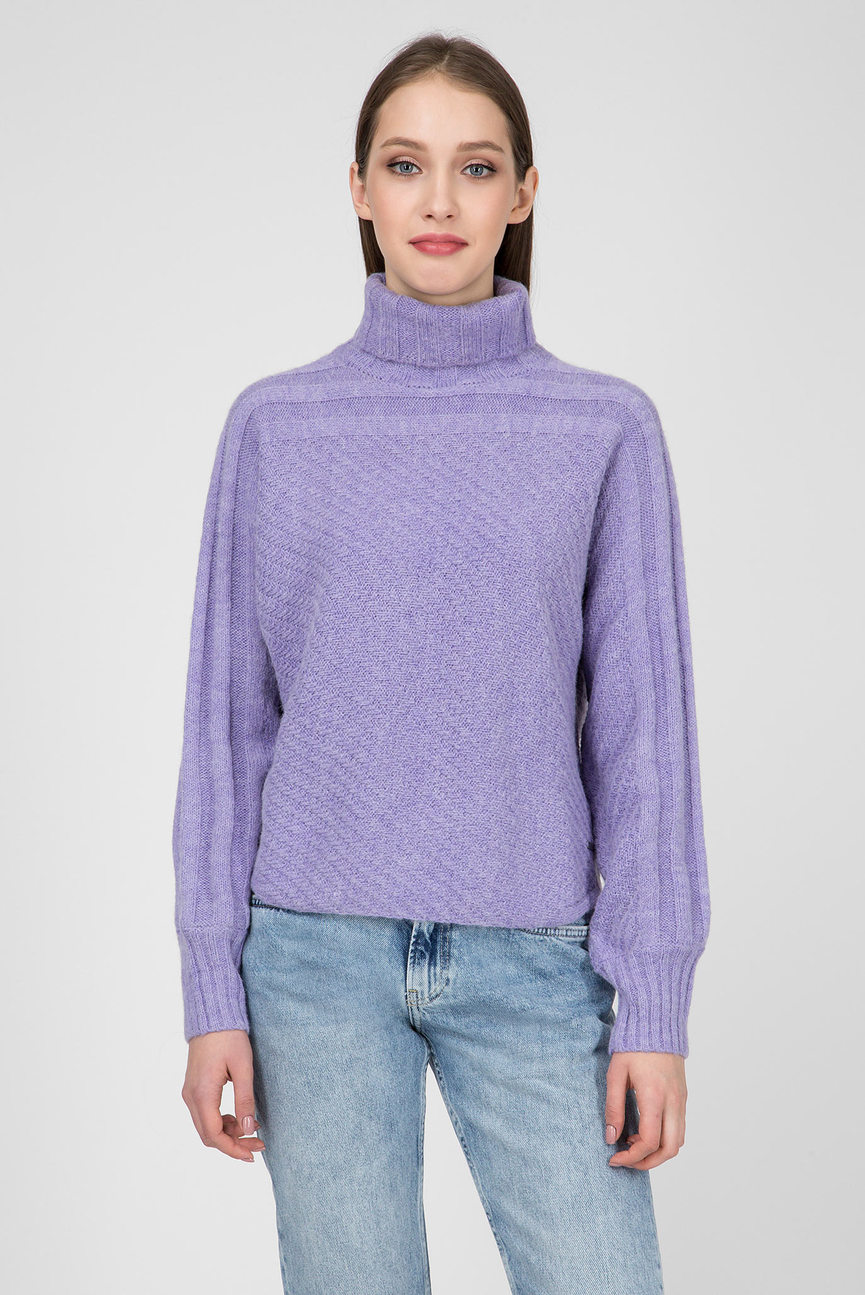 Женский фиолетовый свитер