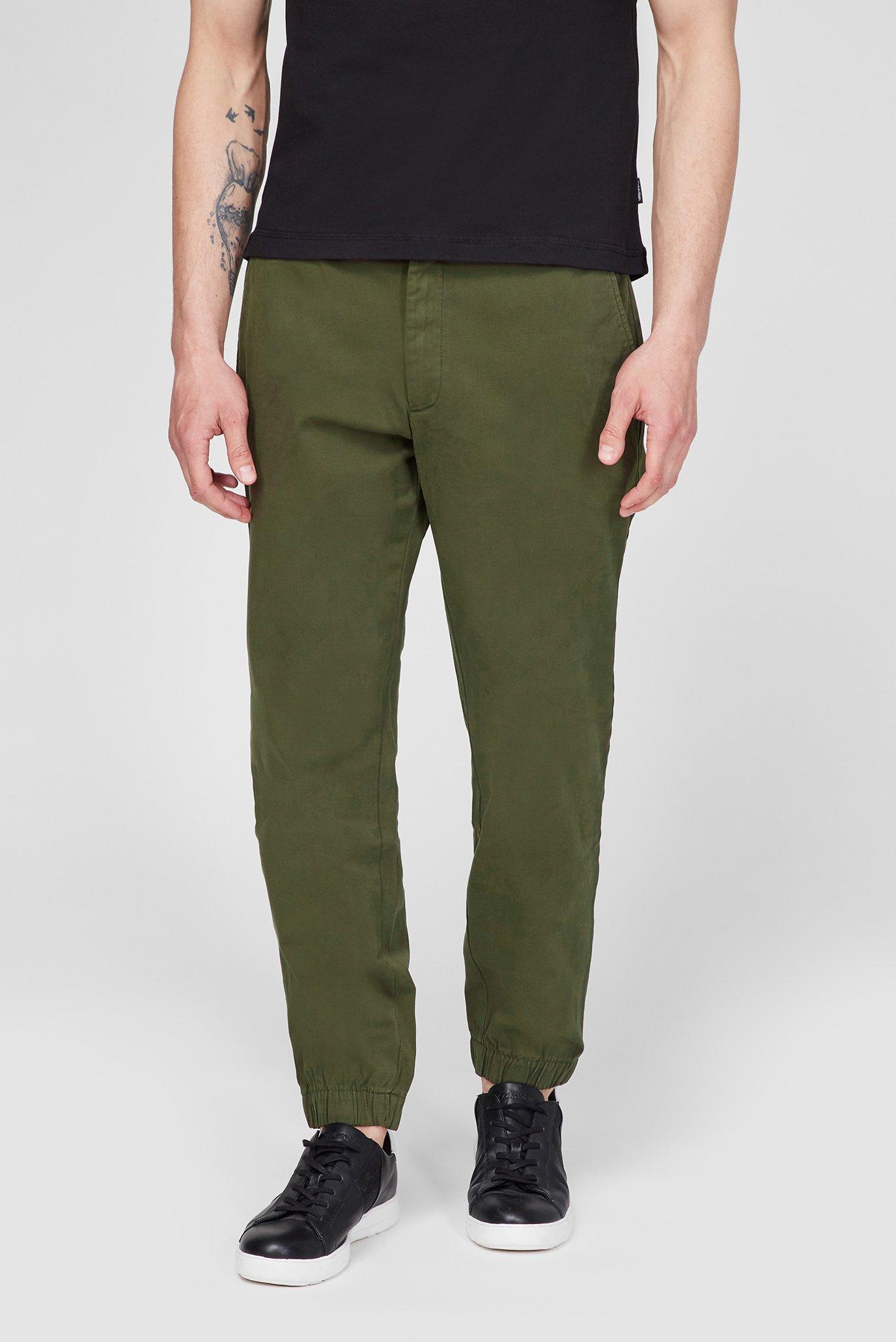 Мужские зеленые брюки TAPERED ELASTIC GARMENT DYE 1