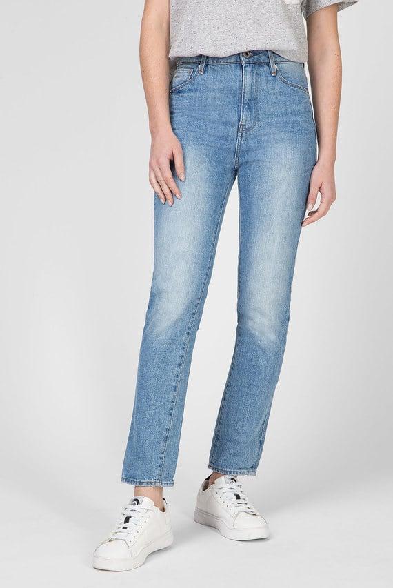 Женские голубые джинсы 3301 High Straight 90's Ankle Wmn