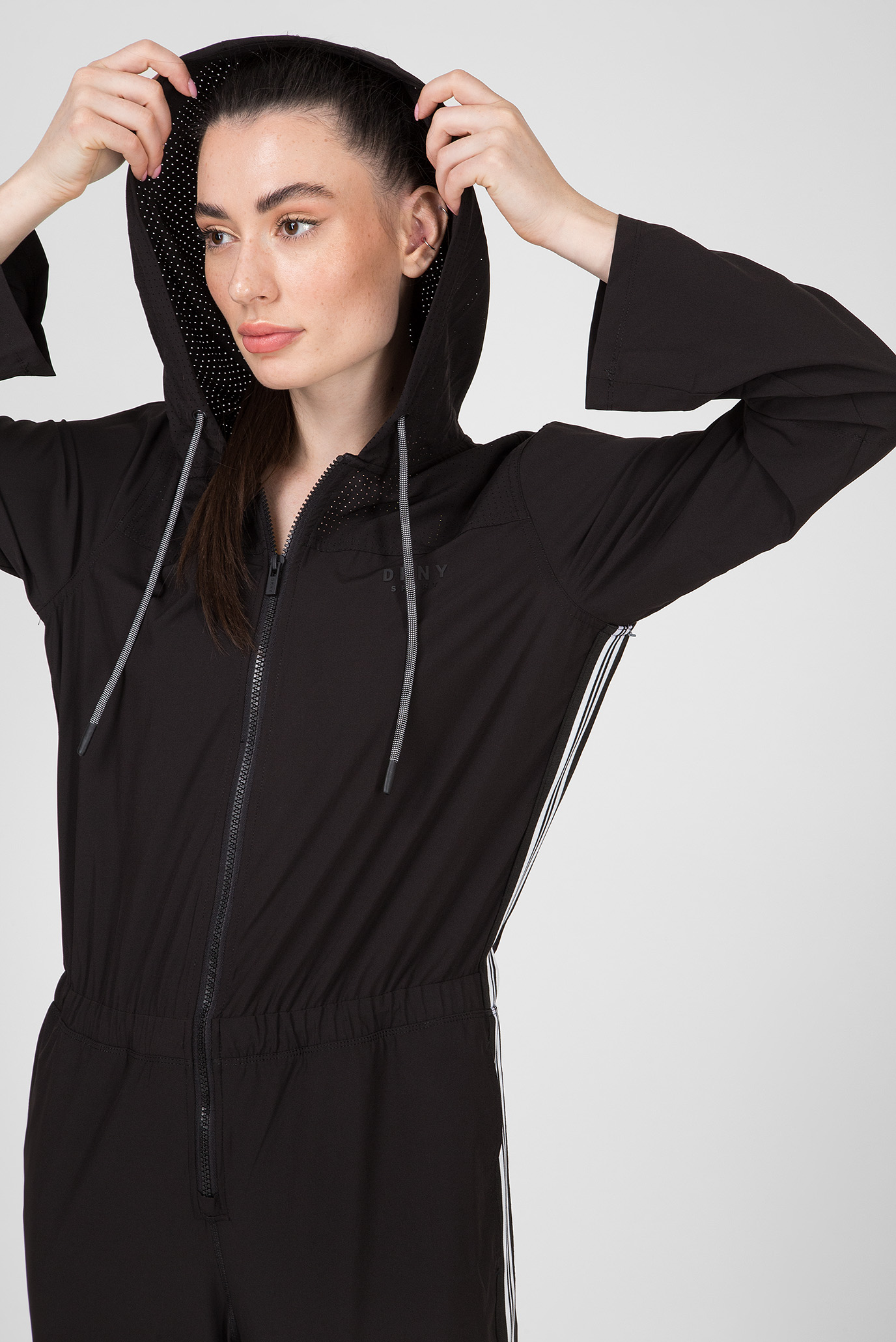 Купить Женский черный комбинезон ROLL SLEEVE DKNY DKNY DP9D4046 – Киев, Украина. Цены в интернет магазине MD Fashion