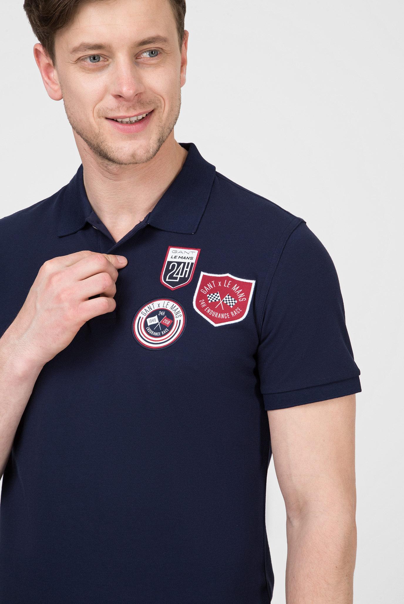 Купить Мужское темно-синее поло LM Gant Gant 2012034 – Киев, Украина. Цены в интернет магазине MD Fashion