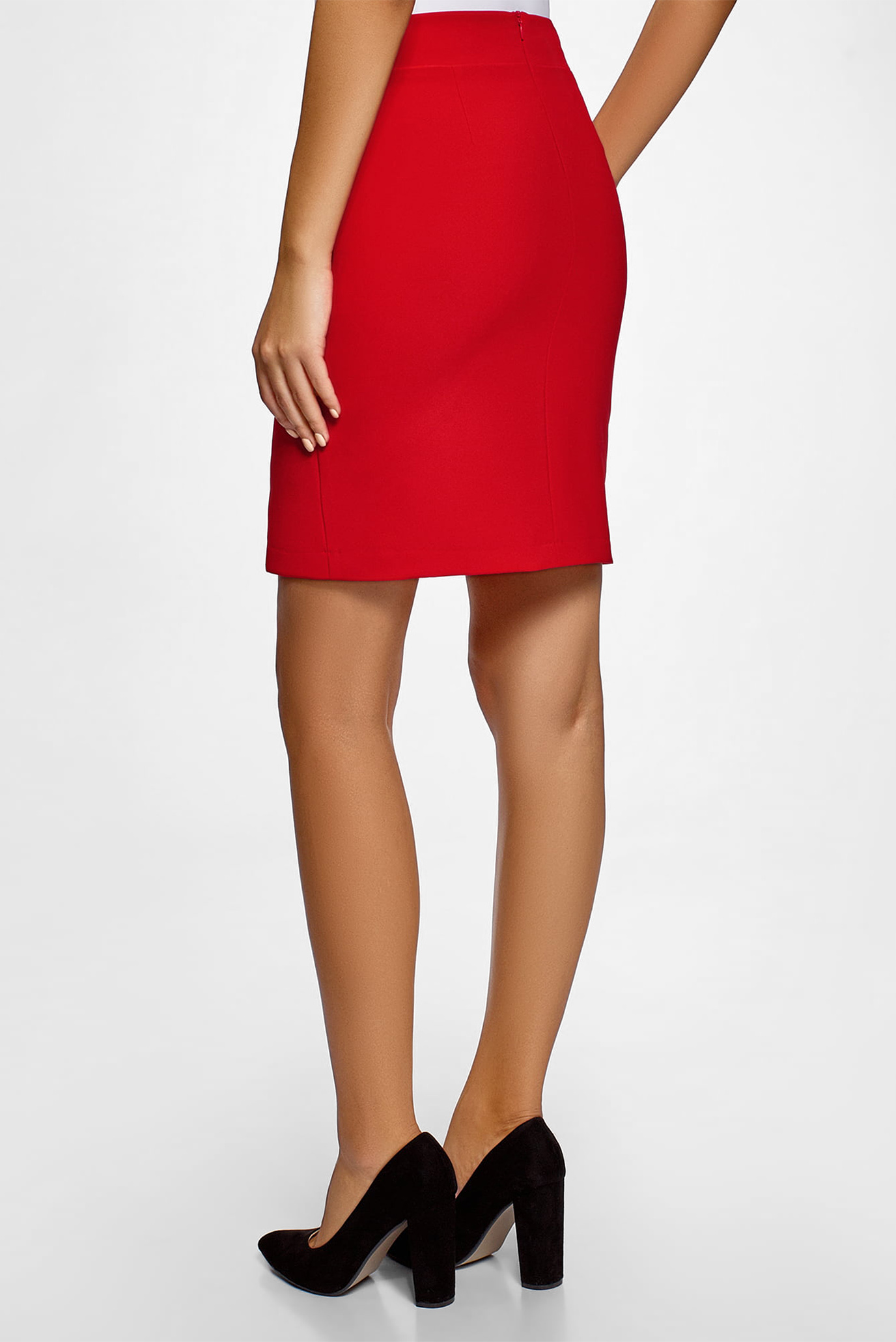 c969712d7ffe Купить Женская красная юбка-карандаш Oodji Oodji 11601207/42314 ...