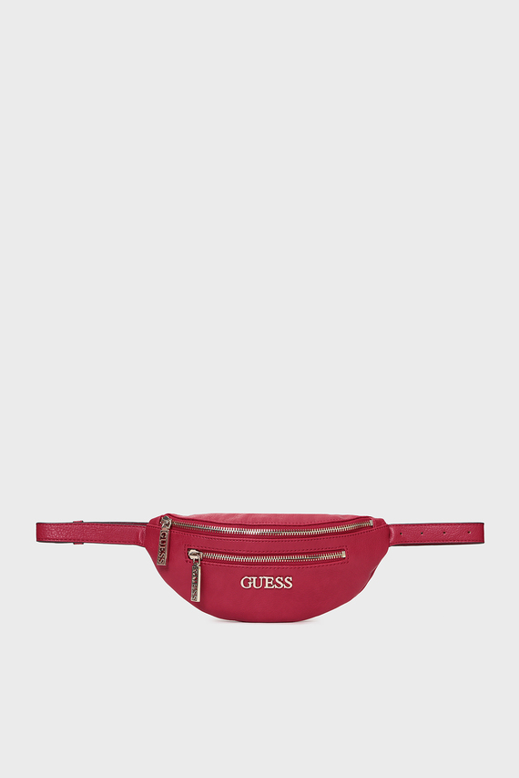 Женская красная поясная сумка MANHATTAN