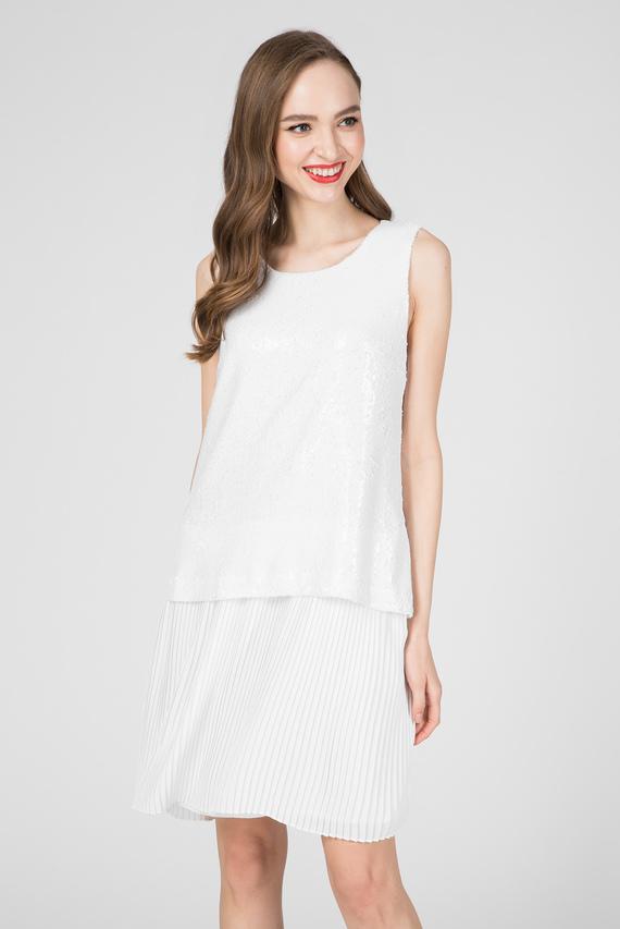 Женское белое платье PAILLETTES