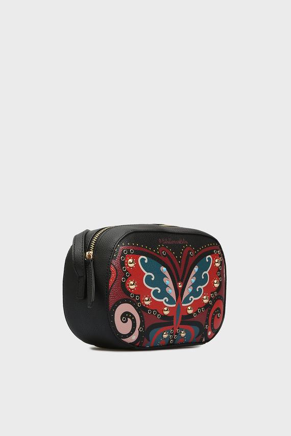 Женская черная сумка через плечо FABOULOUS