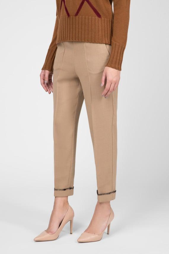 Женские бежевые укороченные брюки