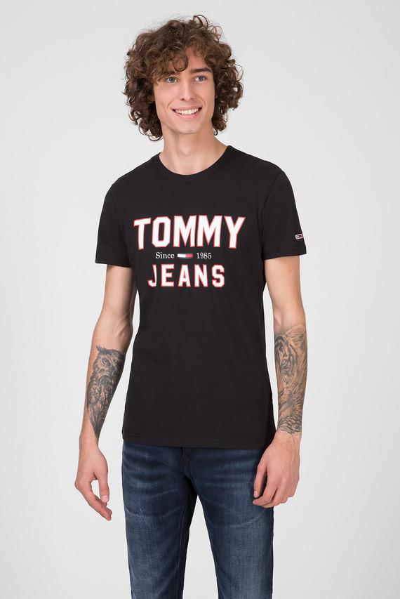 Мужская черная футболка TJM ESSENTIAL 1985 LOGO
