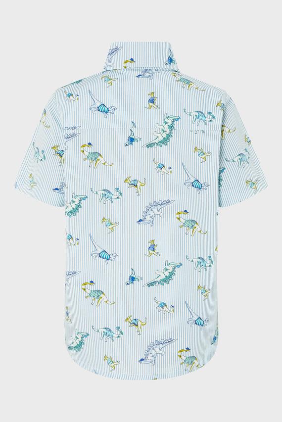 Детская голубая рубашка DONOVAN DINO