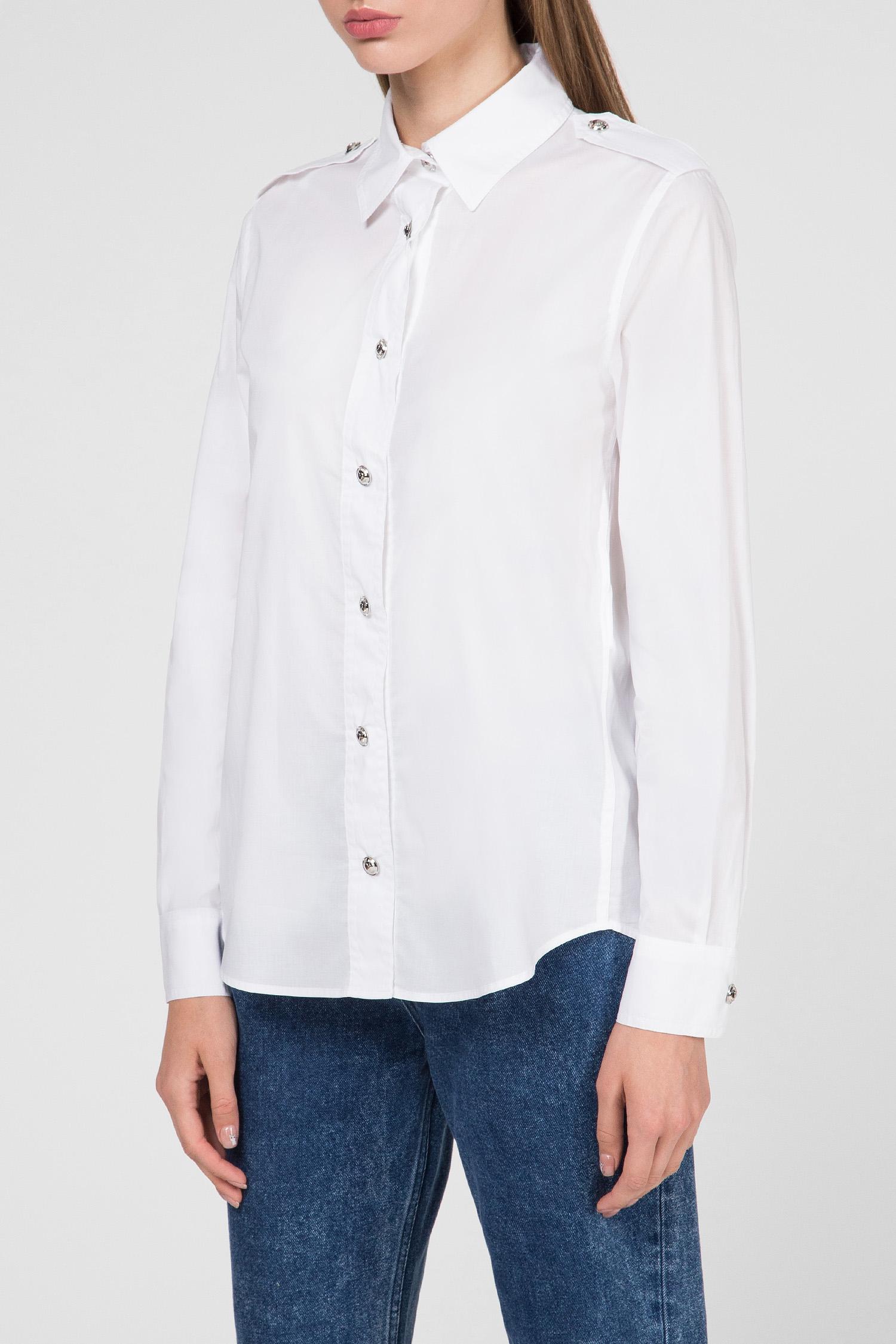 Женская белая рубашка Love Moschino