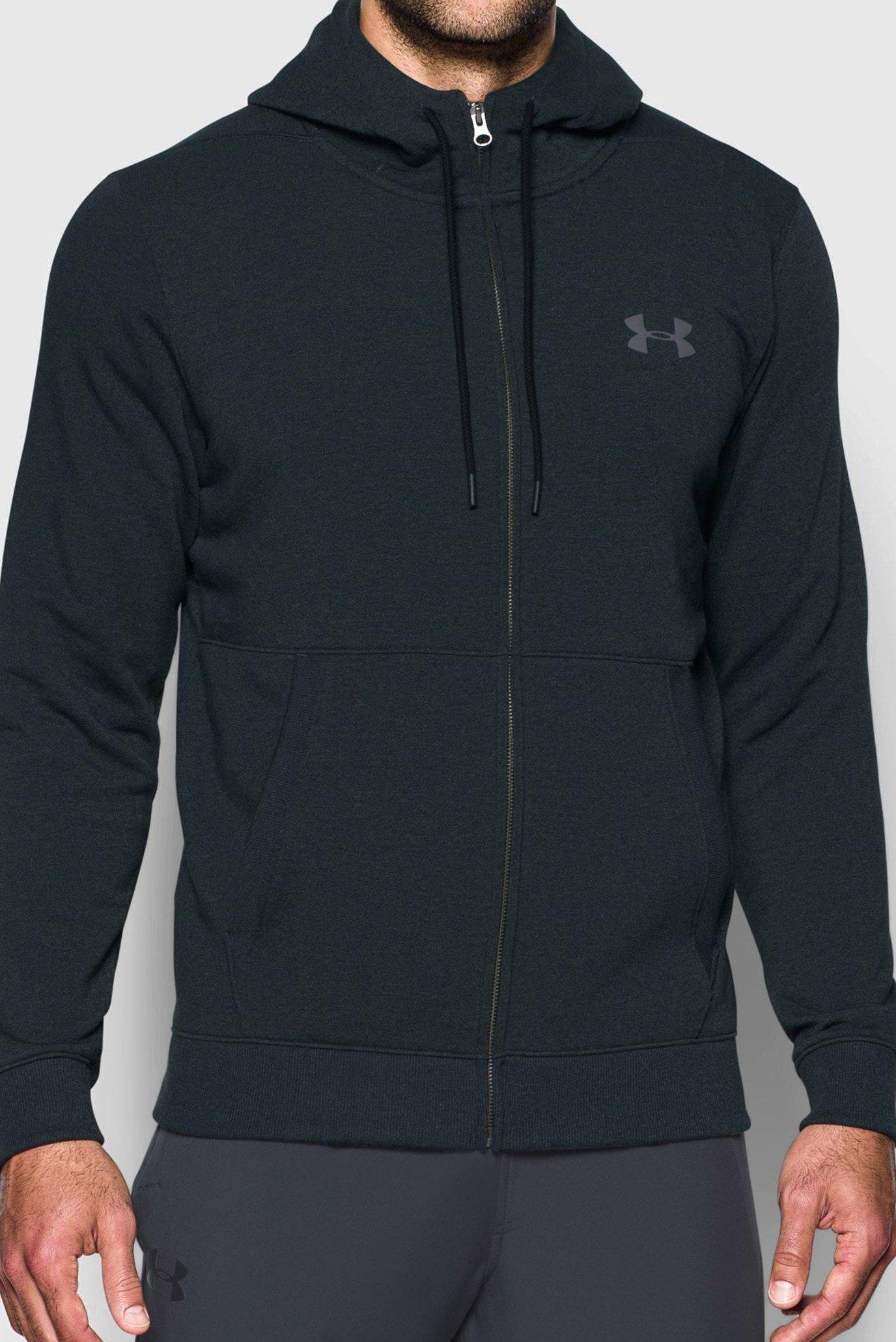 Купить Мужское черное худи Threadborne FZ Hoodie Under Armour Under Armour 1299134-016 – Киев, Украина. Цены в интернет магазине MD Fashion