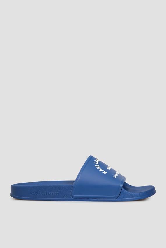 Мужские синие слайдеры