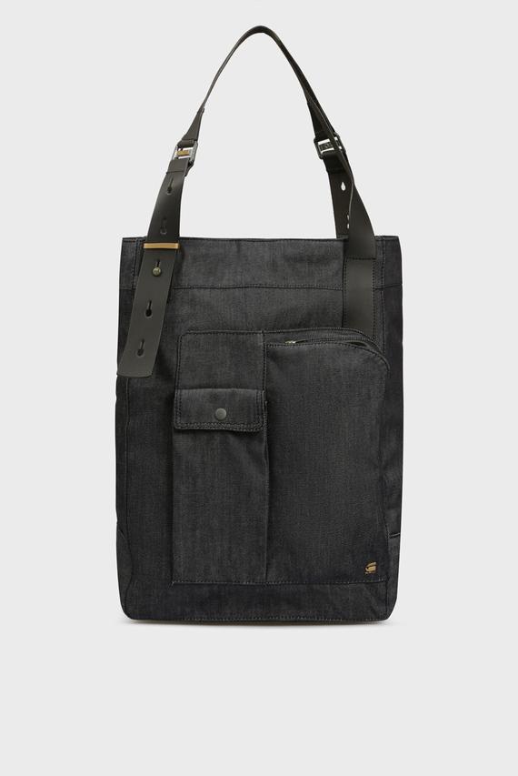 Мужской черный джинсовый шоппер Claxs denim