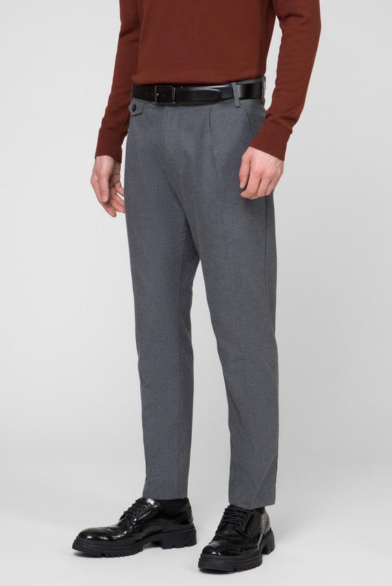 Мужские серые брюки TAPERED FIT HEATHER