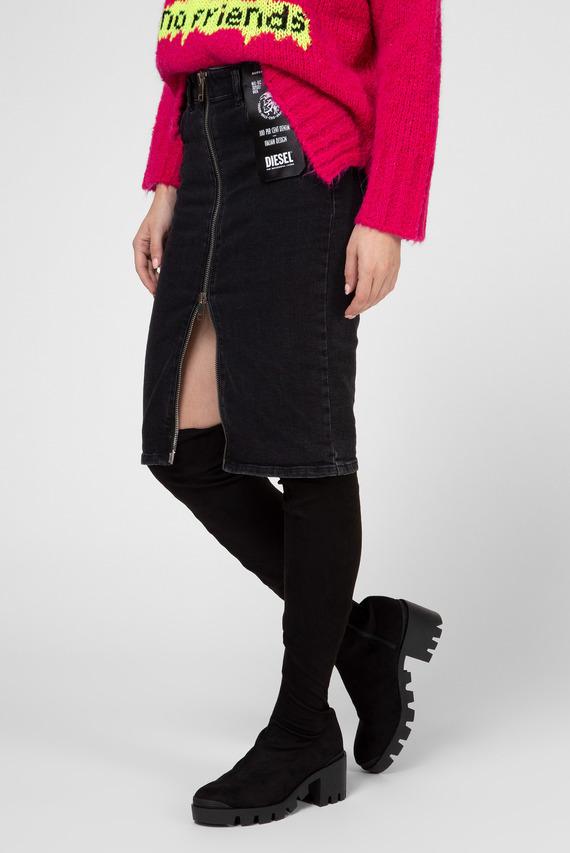 Женская серая джинсовая юбка DE-PENCIL-ZIP GONNA