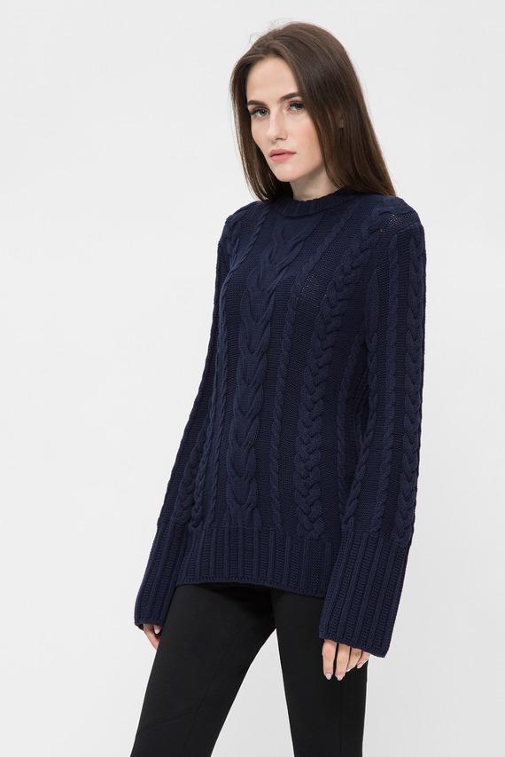 Женский темно-синий джемпер