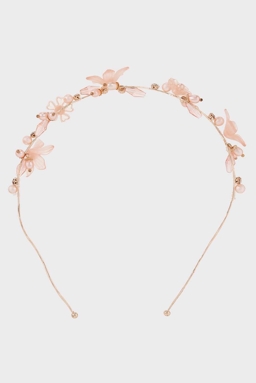 Детский розовый обруч Amrita Flower P