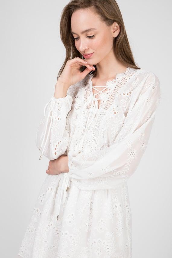 Женское белое платье EMBROIDERED CREPONNE